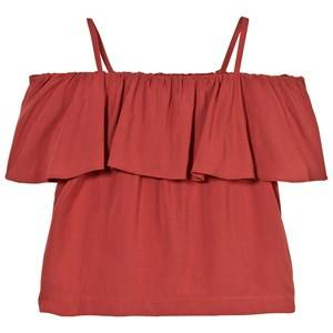 Little Remix Girls Tops Red Rion Ruffle Top Dusty Red