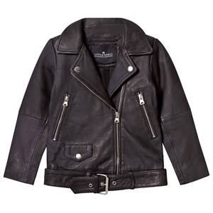 Little Remix Girls Coats and jackets Black Jr Aida Fringe Leather Jacket Black