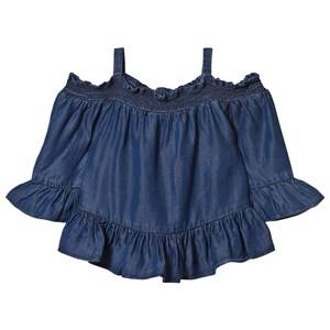 Little Remix Girls Tops Blue Jr Gwen Off-shoulder Medium Denim