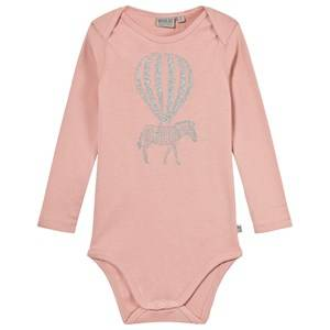 Wheat Girls All in ones Pink Baby Body with Print Mellow Rose