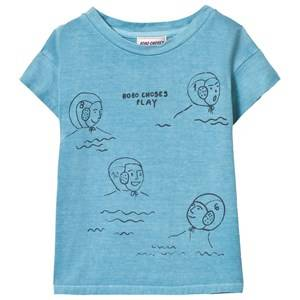 Bobo Choses Boys Tops Blue Waterpolo T-Shirt Turquoise Blue