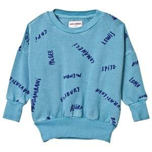 Bobo Choses Boys Jumpers and knitwear Blue The Legends Sweatshirt Turquoise Blue
