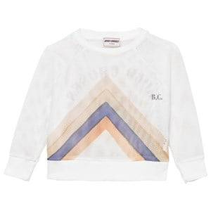 Bobo Choses Girls Jumpers and knitwear White Nadia Track Sweatshirt Off White