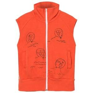 Bobo Choses Boys Jumpers and knitwear Red Waterpolo Zip Vest Red Clay