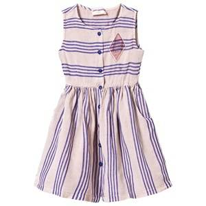 Bobo Choses Girls Dresses Pink Legend Striped Shaped Dress Off Rose