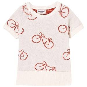Bobo Choses Boys Jumpers and knitwear White The Cyclist Knit Sweater Off White