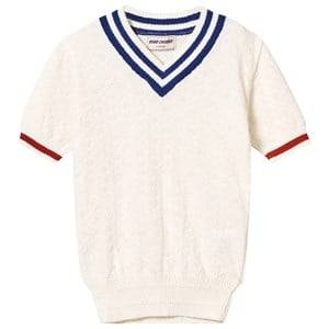 Bobo Choses Boys Jumpers and knitwear White Knit Jumper V neck A Legend Off White