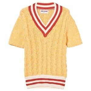 Bobo Choses Boys Jumpers and knitwear Yellow B.C. Cable Knit Sweater Golden Nugget