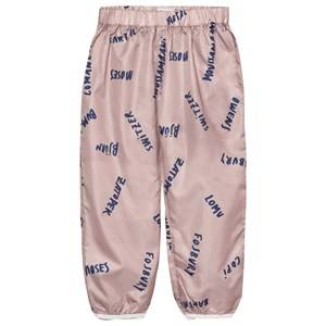 Bobo Choses Girls Bottoms Pink Waterproof Trousers The Legends Off Rose