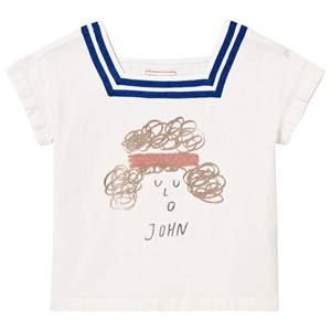 Bobo Choses Girls Tops White John Sailor Shirt Off White