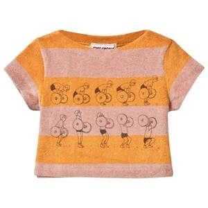 Bobo Choses Girls Tops Yellow Baby Terry Top Weightlifting Golden Nugget
