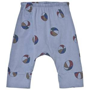 Bobo Choses Girls Bottoms Blue Basket Ball Baggy Baby Trousers Cloud Blue