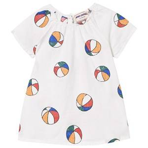 Bobo Choses Girls Dresses White Basket Ball Baby Dress Off White