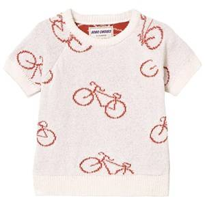 Bobo Choses Boys Jumpers and knitwear White The Cyclist Baby Knit Sweater Off White