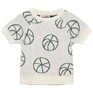 Bobo Choses Girls Jumpers and knitwear White Basket Ball Baby Knit Sweater Off White