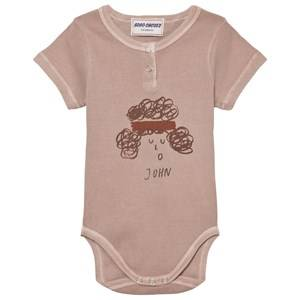 Bobo Choses Boys All in ones Pink John Baby Body Off Rose