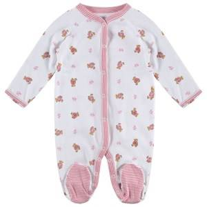 Ralph Lauren Girls Childrens Clothes All in ones White Bear Footed Baby Body White