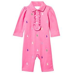 Ralph Lauren Girls Childrens Clothes All in ones Pink Schiffli Baby One-Piece Bermuda Pink