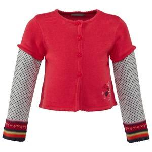Catimini Girls Childrens Clothes Jumpers and knitwear Multi Heads Or Tails Rabbit Cardigan