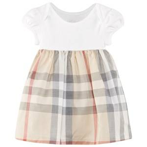 Burberry Unisex Childrens Clothes Dresses Beige Check Detail Cotton Dress