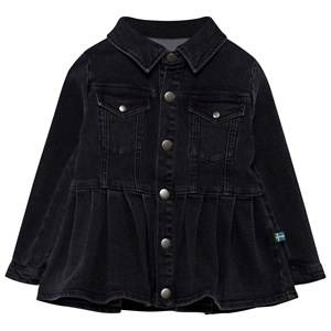 The BRAND Girls Coats and jackets Black Denim Peplum Jacket Heavy Washed Black