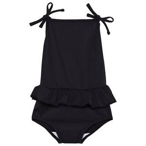 The BRAND Girls Childrens Clothes Swimwear and coverups Black Bow Swim Suit Black