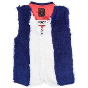 The BRAND Girls Coats and jackets Blue Fur Vest Blue/White Stripe