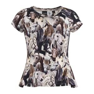 Molo Unisex Childrens Clothes Tops Multi Robbin T-Shirt Horse Spirit