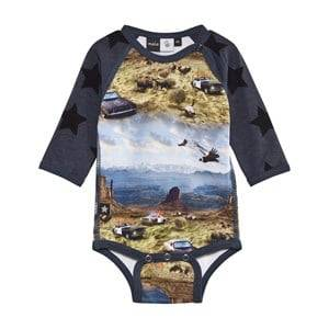 Molo Unisex Childrens Clothes All in ones Multi Floyd Baby Body Prairie Chase