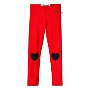 The BRAND Girls Childrens Clothes Bottoms Red Heart Leggings Shiny Red
