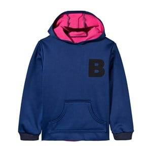 The BRAND Unisex Childrens Clothes Jumpers and knitwear Blue Neoprene Hoodie Blue
