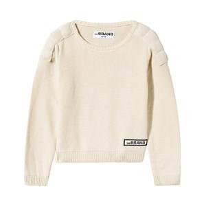 The BRAND Unisex Childrens Clothes Jumpers and knitwear White Uni MC Knit Off White