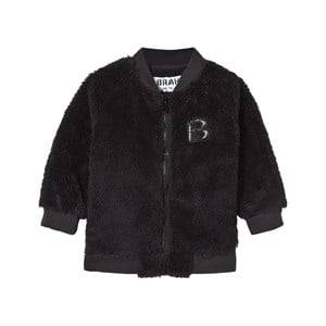 The BRAND Unisex Childrens Clothes Fleeces Black Baby Teddy Bomber Black