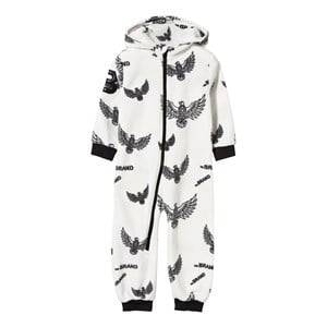 The BRAND Unisex Childrens Clothes Fleeces White Fleece Onesie Off White Eagles