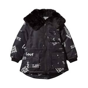 The BRAND Unisex Childrens Clothes Coats and jackets Black Parka Faux Fur Black Love