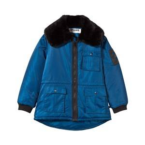 The BRAND Unisex Childrens Clothes Coats and jackets Blue Faux Fur Parka Blue