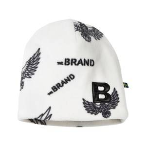 The BRAND Unisex Childrens Clothes Headwear White Fleece Hat Off White Eagles