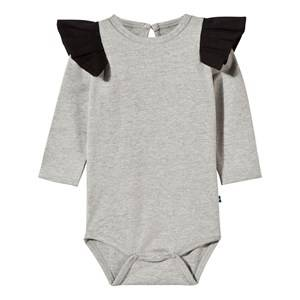 The BRAND Girls Childrens Clothes All in ones Grey Flounce Baby Body Grey Mel