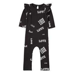 The BRAND Girls Childrens Clothes All in ones Black Baby Dance Flounce One-Piece  Black Love
