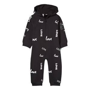 The BRAND Girls Childrens Clothes All in ones Black Baby One-Piece Black Love