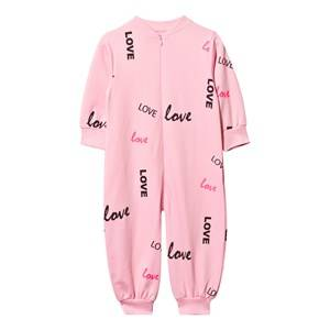The BRAND Girls Childrens Clothes All in ones Pink Baby One-Piece Pink Love