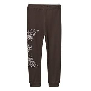 The BRAND Unisex Childrens Clothes Bottoms Black Baby Waffle Pants Almost Black
