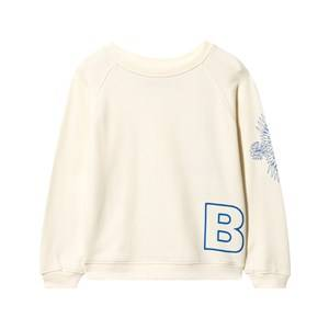The BRAND Boys Childrens Clothes Jumpers and knitwear White Loose Sweat Shirt White