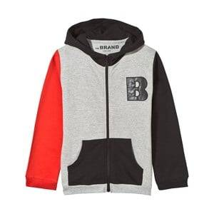 The BRAND Boys Private Label Jumpers and knitwear Multi Block Hoodie Black Red Grey Melange