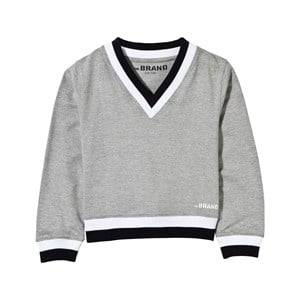 The BRAND Boys Childrens Clothes Jumpers and knitwear Grey V-Neck College Sweater Grey