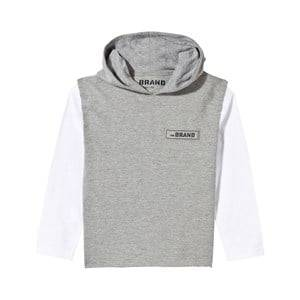 The BRAND Boys Childrens Clothes Jumpers and knitwear Grey Cut Off Hoodie