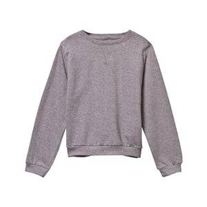 The BRAND Girls Childrens Clothes Jumpers and knitwear Grey Fringe Back T-Shirt Grey Mel