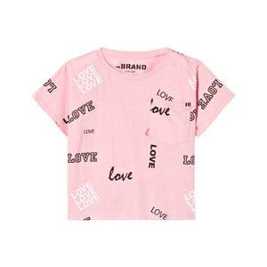 The BRAND Girls Private Label Tops Pink Pocket Tee Pink Love