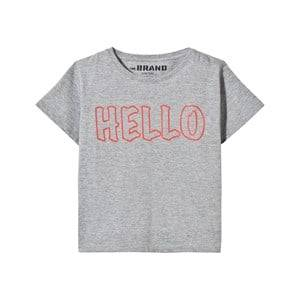 The BRAND Unisex Childrens Clothes Tops Grey Hello Tee Grey