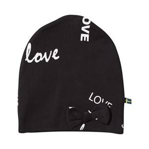 The BRAND Girls Childrens Clothes Headwear Black Bow Hat Black Love